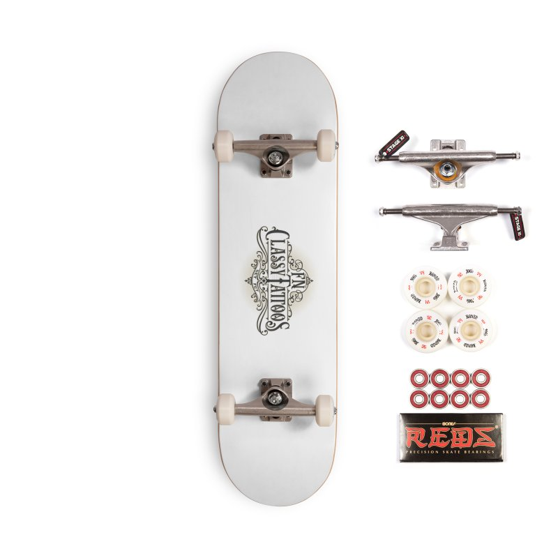 FN Classy Logo White Accessories Complete - Pro Skateboard by FN CLASSY STUFF FOR FN CLASSY PEOPLE