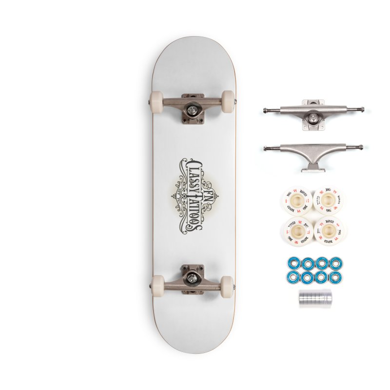 FN Classy Logo White Accessories Complete - Premium Skateboard by FN CLASSY STUFF FOR FN CLASSY PEOPLE