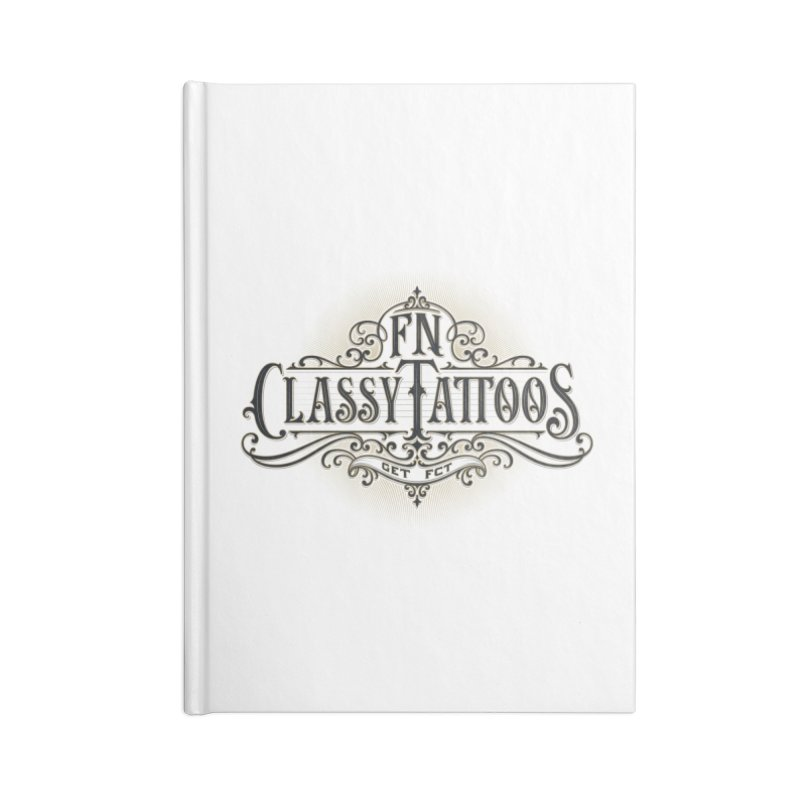 FN Classy Logo White Accessories Lined Journal Notebook by FN CLASSY STUFF FOR FN CLASSY PEOPLE