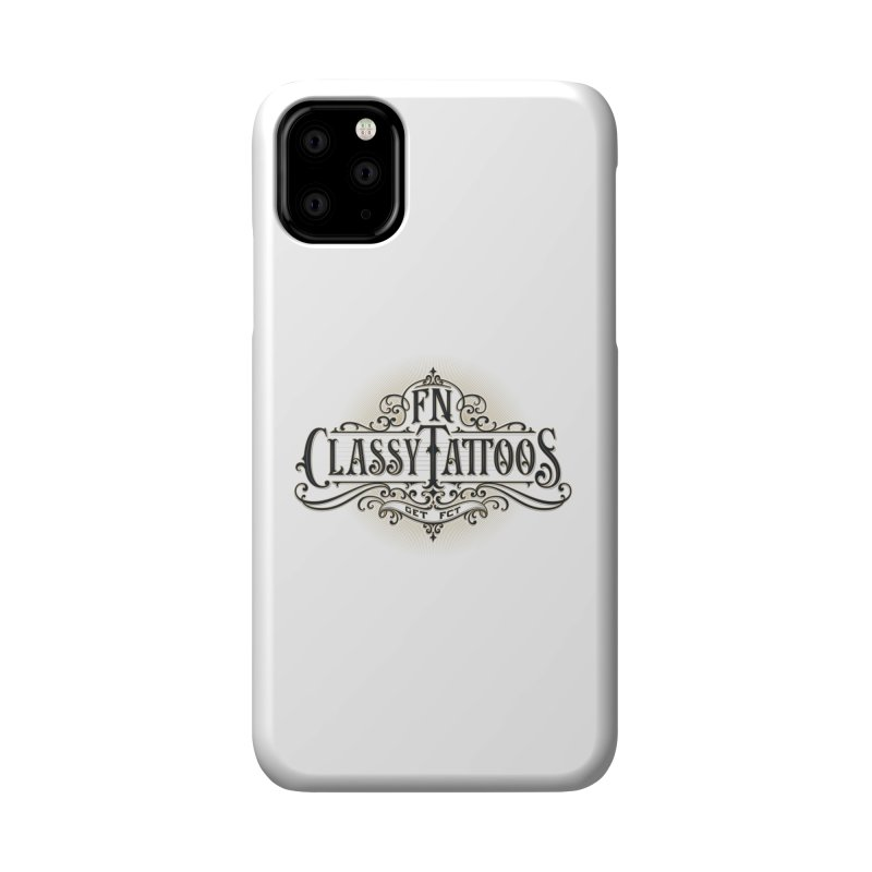 FN Classy Logo White Accessories Phone Case by FN CLASSY STUFF FOR FN CLASSY PEOPLE