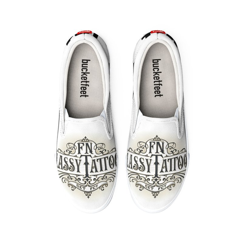 FN Classy Logo White Men's Shoes by FN CLASSY STUFF FOR FN CLASSY PEOPLE