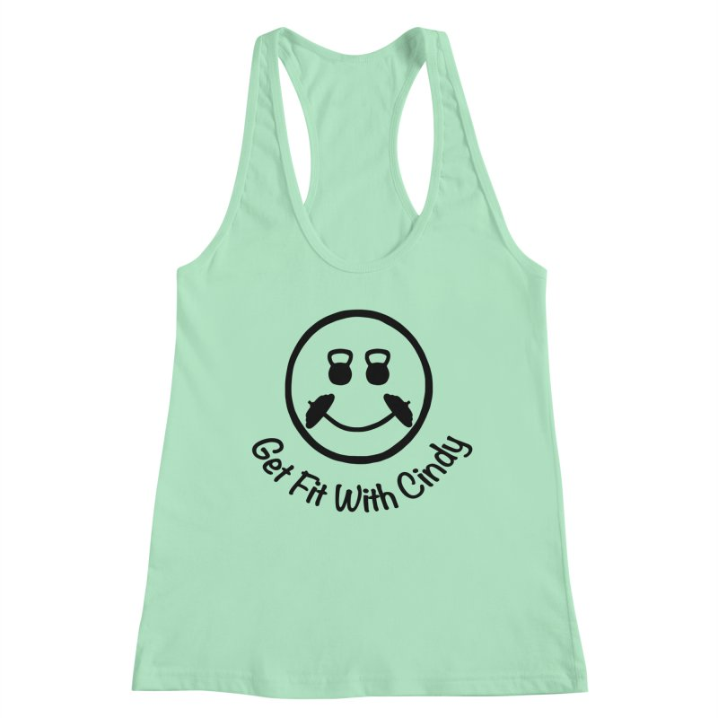 Get Fit With Cindy Women's Racerback Tank by Cindy's Artist Shop