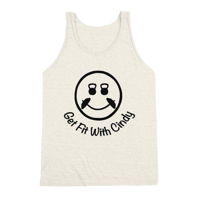 Get Fit With Cindy Men's Triblend Tank by Cindy's Artist Shop