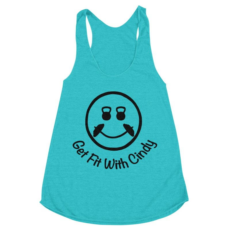 Get Fit With Cindy Women's Racerback Triblend Tank by Cindy's Artist Shop