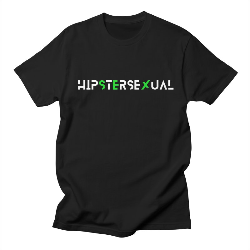 Hipstersexual Logo White & Green Women's Regular Unisex T-Shirt by Get Funkked
