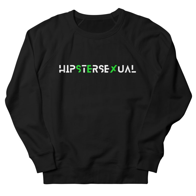 Hipstersexual Logo White & Green Men's French Terry Sweatshirt by Get Funkked