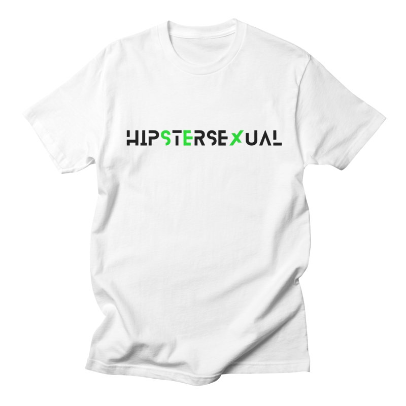 Hipstersexual Logo Black & Green Men's T-Shirt by Get Funkked