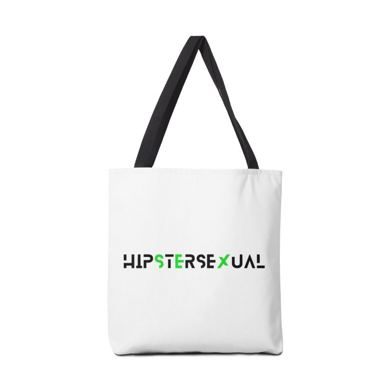 Hipstersexual Logo Black & Green Accessories Tote Bag Bag by Get Funkked