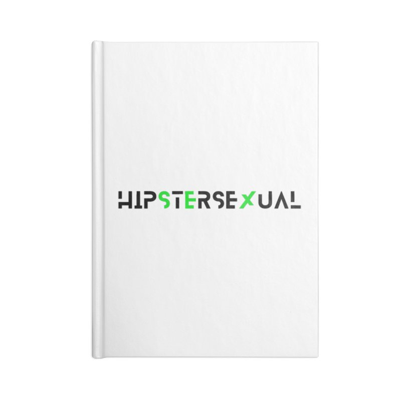 Hipstersexual Logo Black & Green Accessories Blank Journal Notebook by Get Funkked