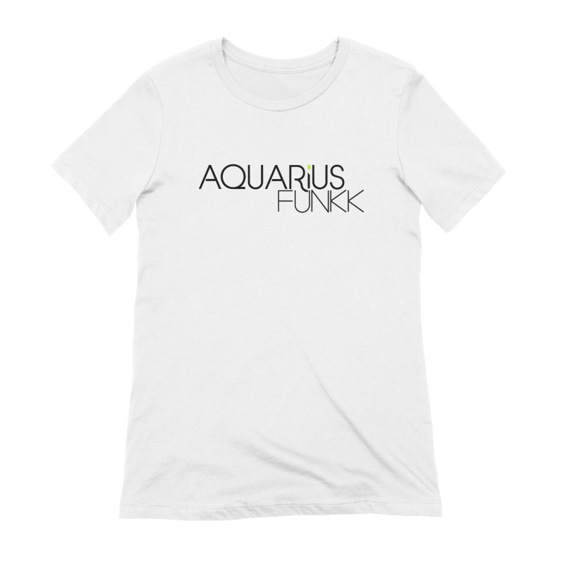 Aquarius Funkk Logo - Black Women's Extra Soft T-Shirt by Get Funkked