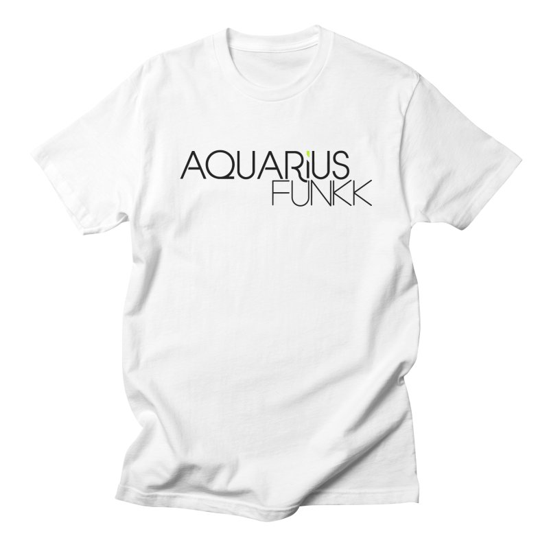 Aquarius Funkk Logo - Black Women's Regular Unisex T-Shirt by Get Funkked