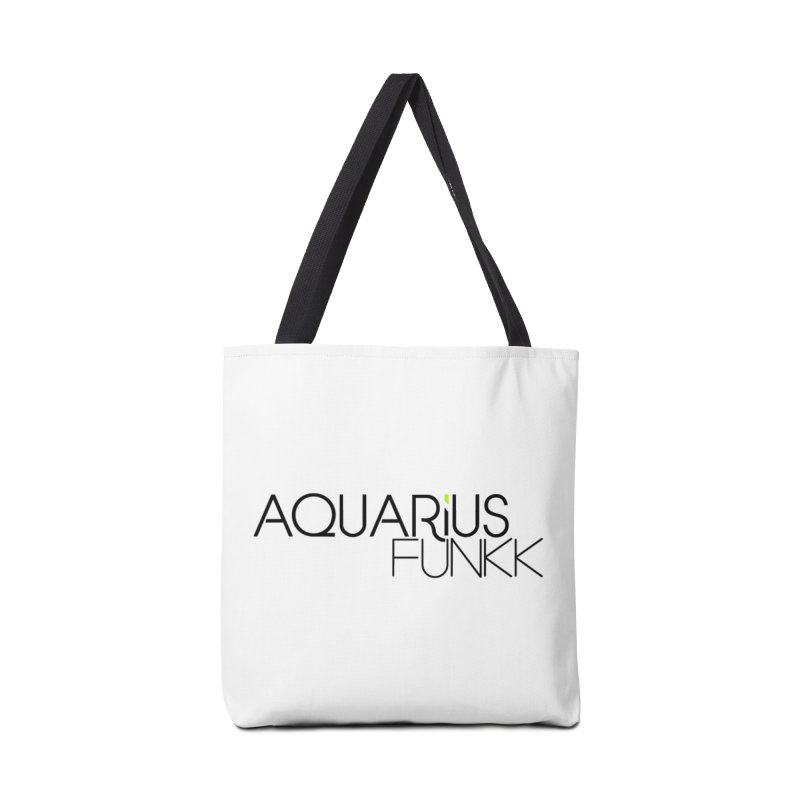 Aquarius Funkk Logo - Black Accessories Tote Bag Bag by Get Funkked