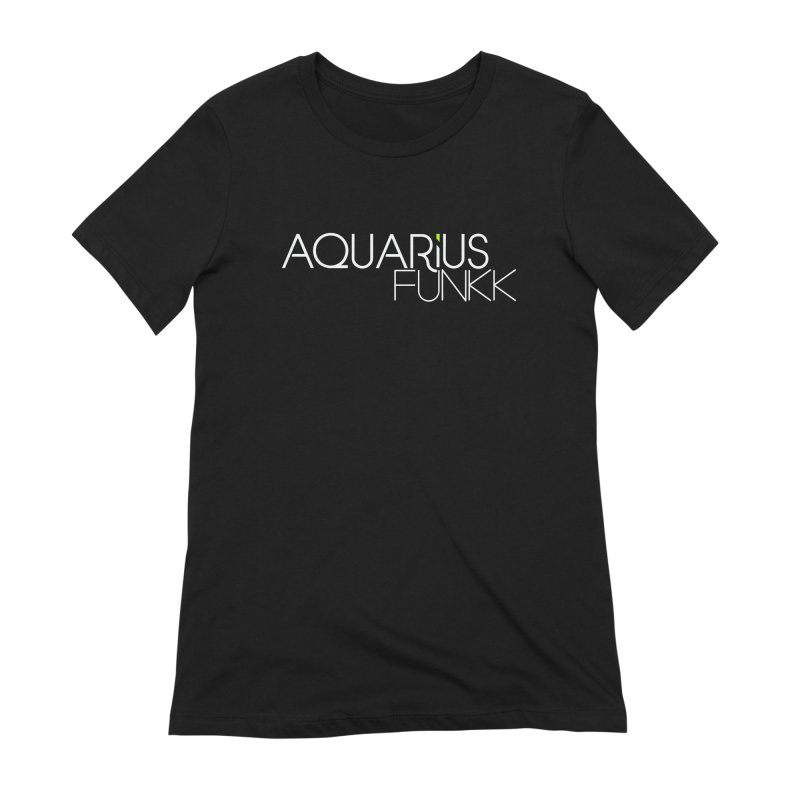 Aquarius Funkk Logo - White Women's Extra Soft T-Shirt by Get Funkked