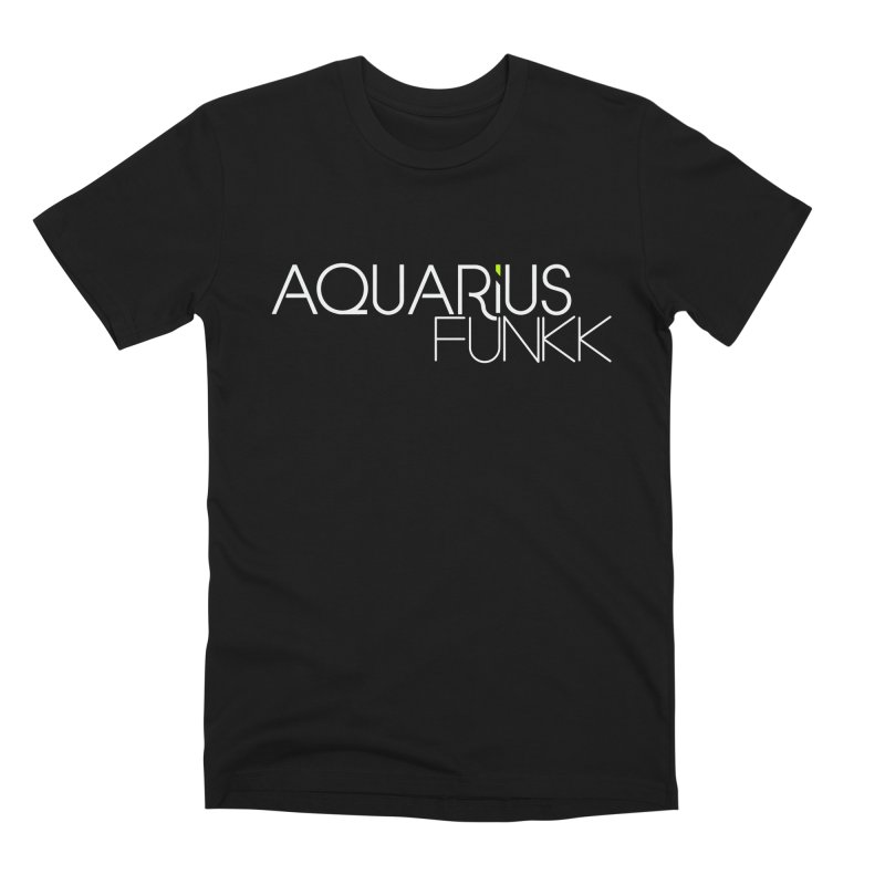 Aquarius Funkk Logo - White Men's Premium T-Shirt by Get Funkked