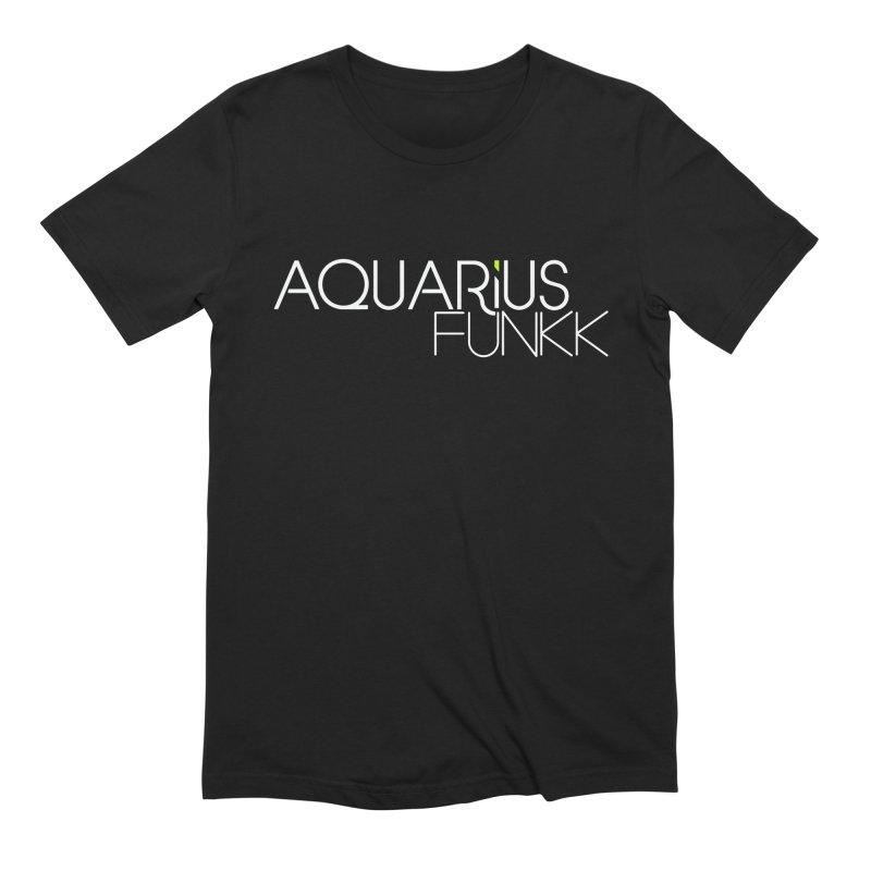 Aquarius Funkk Logo - White Men's Extra Soft T-Shirt by Get Funkked