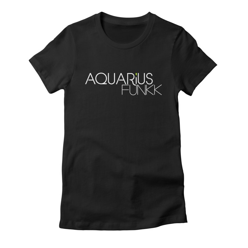 Aquarius Funkk Logo - White Women's Fitted T-Shirt by Get Funkked