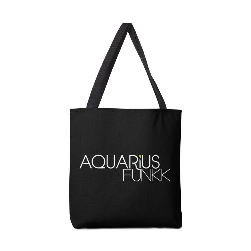 Aquarius Funkk Logo - White Accessories Tote Bag Bag by Get Funkked