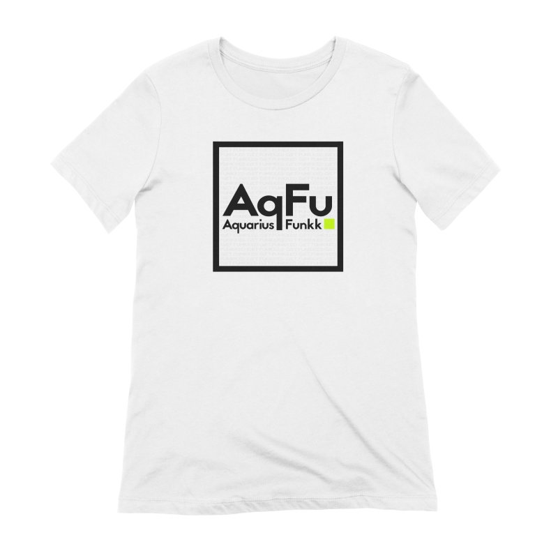 AqFu Element Black on White Women's Extra Soft T-Shirt by Get Funkked