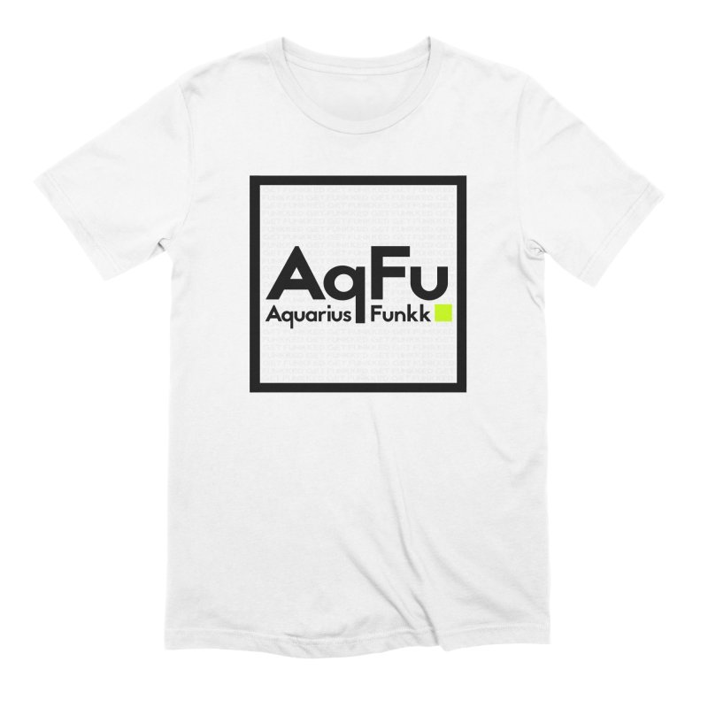 AqFu Element Black on White Men's Extra Soft T-Shirt by Get Funkked