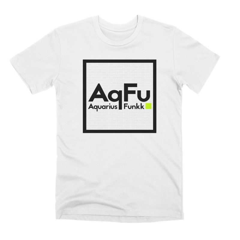 AqFu Element Black on White Men's Premium T-Shirt by Get Funkked