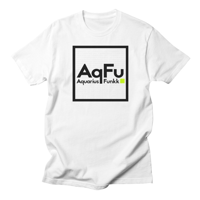 AqFu Element Black on White Men's T-Shirt by Get Funkked