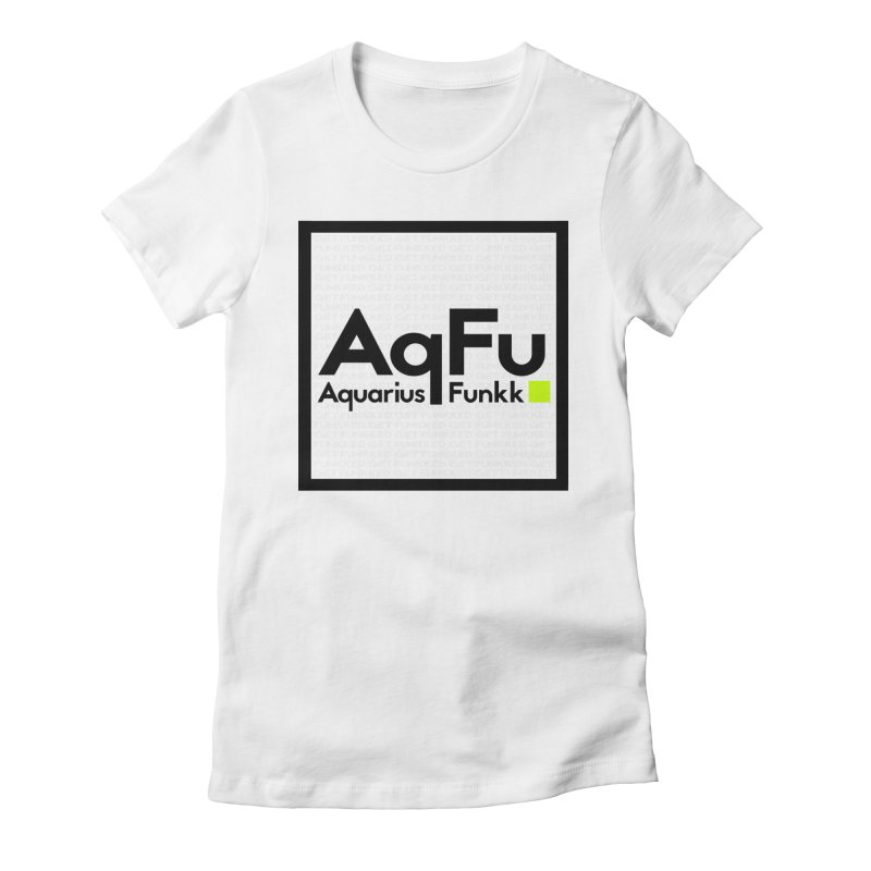 AqFu Element Black on White Women's Fitted T-Shirt by Get Funkked