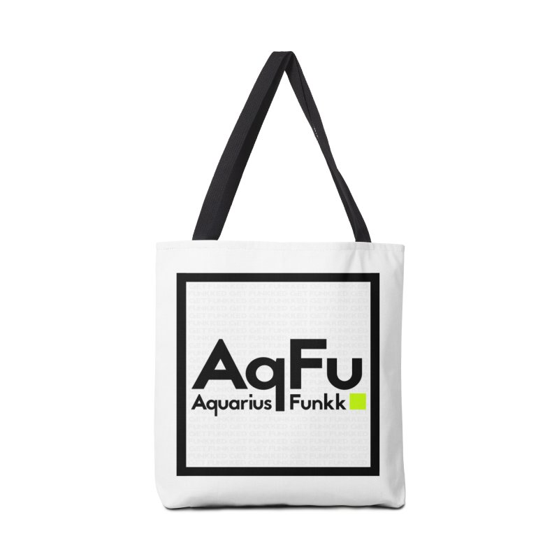 AqFu Element Black on White Accessories Tote Bag Bag by Get Funkked