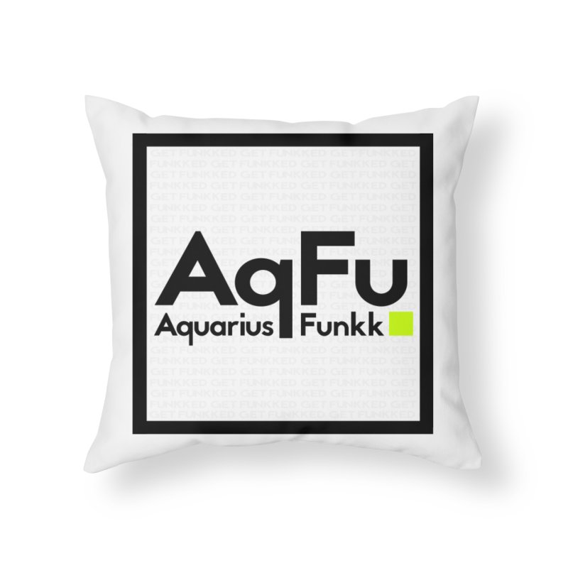 AqFu Element Black on White Home Throw Pillow by Get Funkked