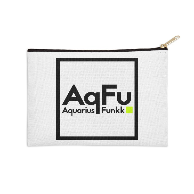 AqFu Element Black on White Accessories Zip Pouch by Get Funkked
