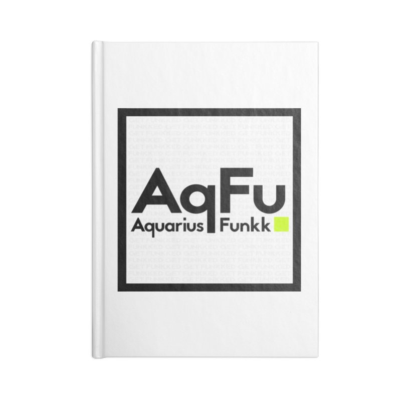 AqFu Element Black on White Accessories Blank Journal Notebook by Get Funkked