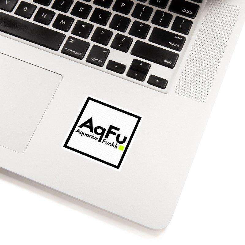 AqFu Element Black on White Accessories Sticker by Get Funkked