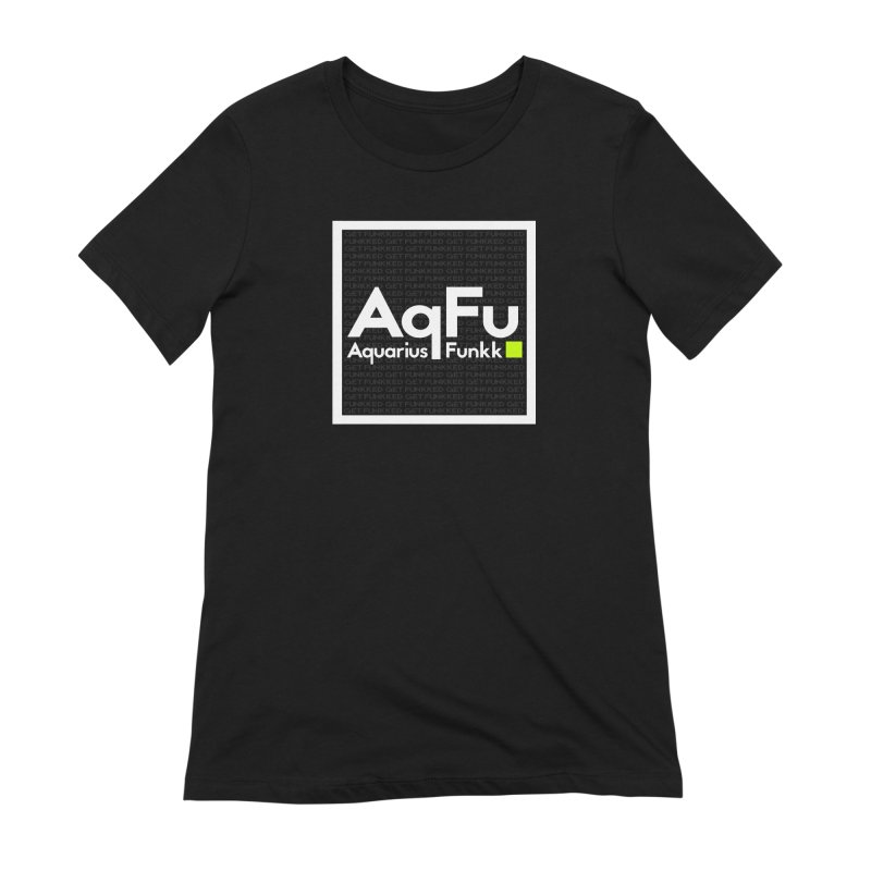 AqFu Element White on Black Women's Extra Soft T-Shirt by Get Funkked