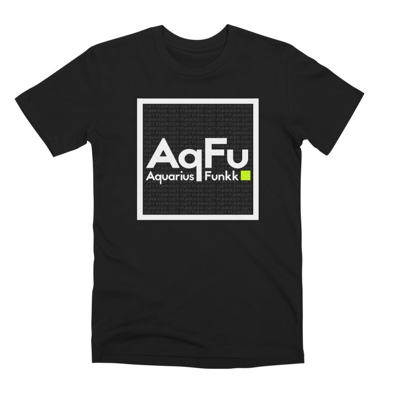 AqFu Element White on Black Men's Premium T-Shirt by Get Funkked