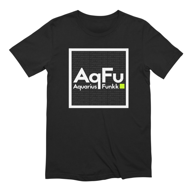 AqFu Element White on Black Men's Extra Soft T-Shirt by Get Funkked