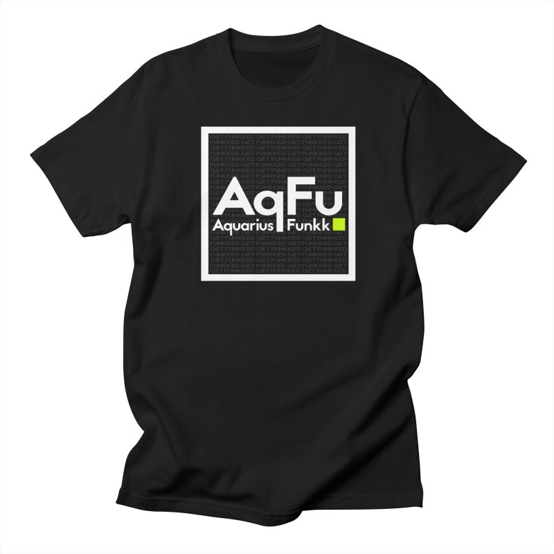 AqFu Element White on Black Men's T-Shirt by Get Funkked