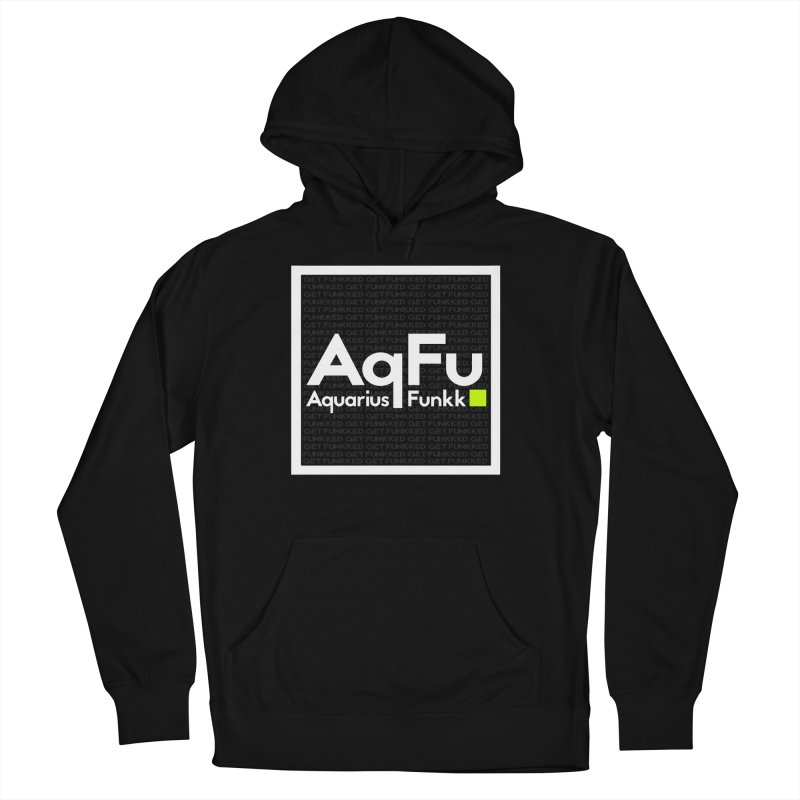 AqFu Element White on Black Men's French Terry Pullover Hoody by Get Funkked
