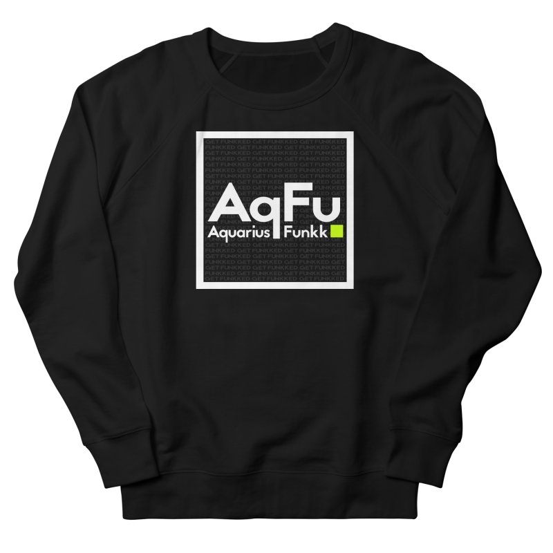 AqFu Element White on Black Men's French Terry Sweatshirt by Get Funkked