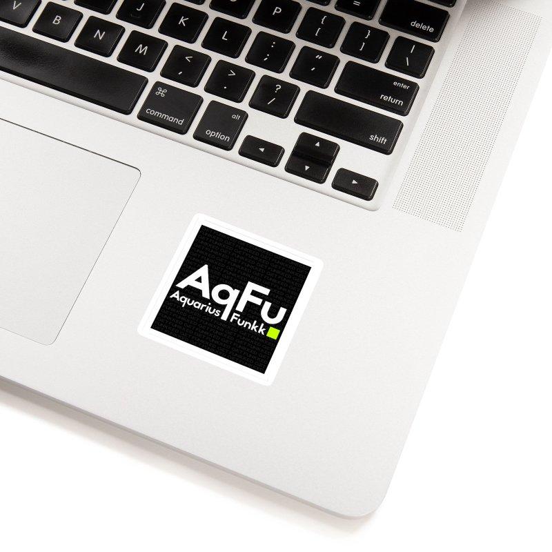 AqFu Element White on Black Accessories Sticker by Get Funkked