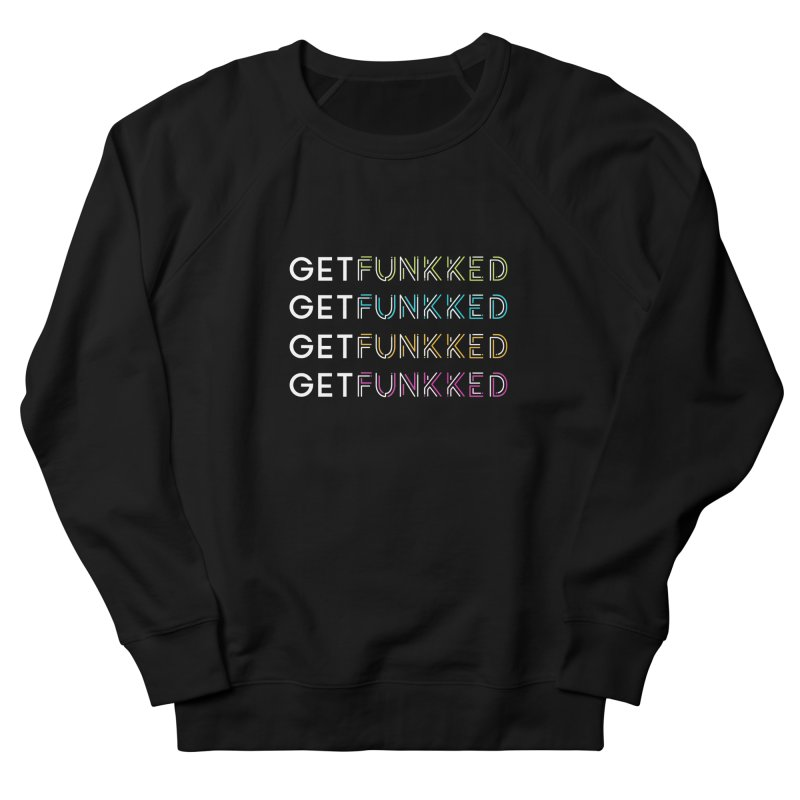 Get Funkked Four Color & White Logo Men's French Terry Sweatshirt by Get Funkked