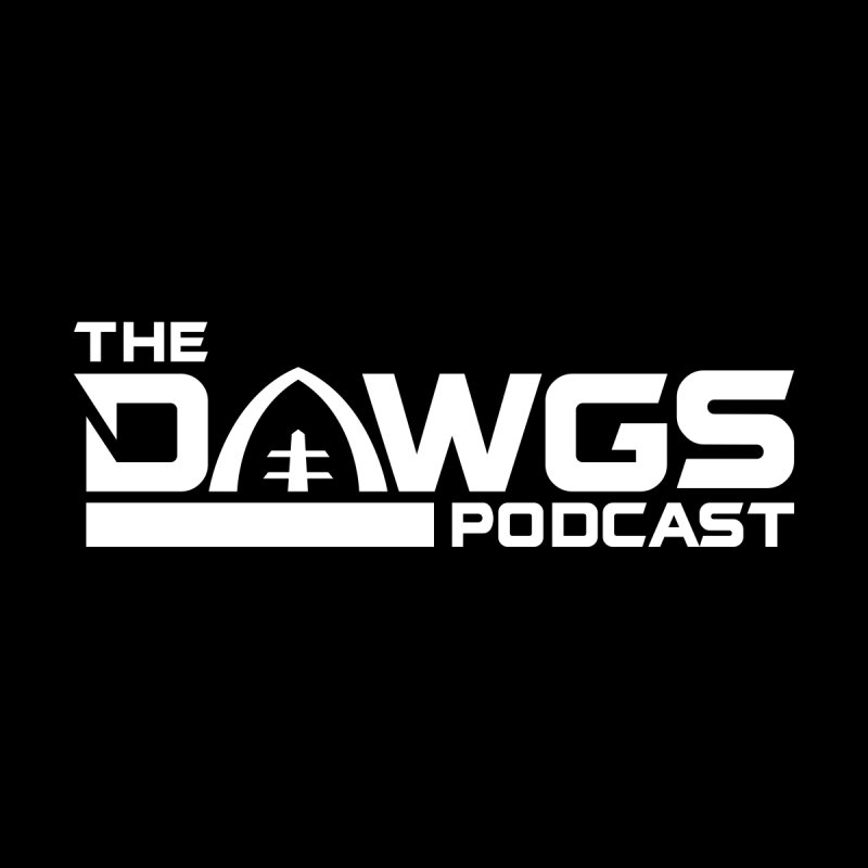 The Dawgs Podcast - White Logo Men's T-Shirt by Get Level Podcast Network