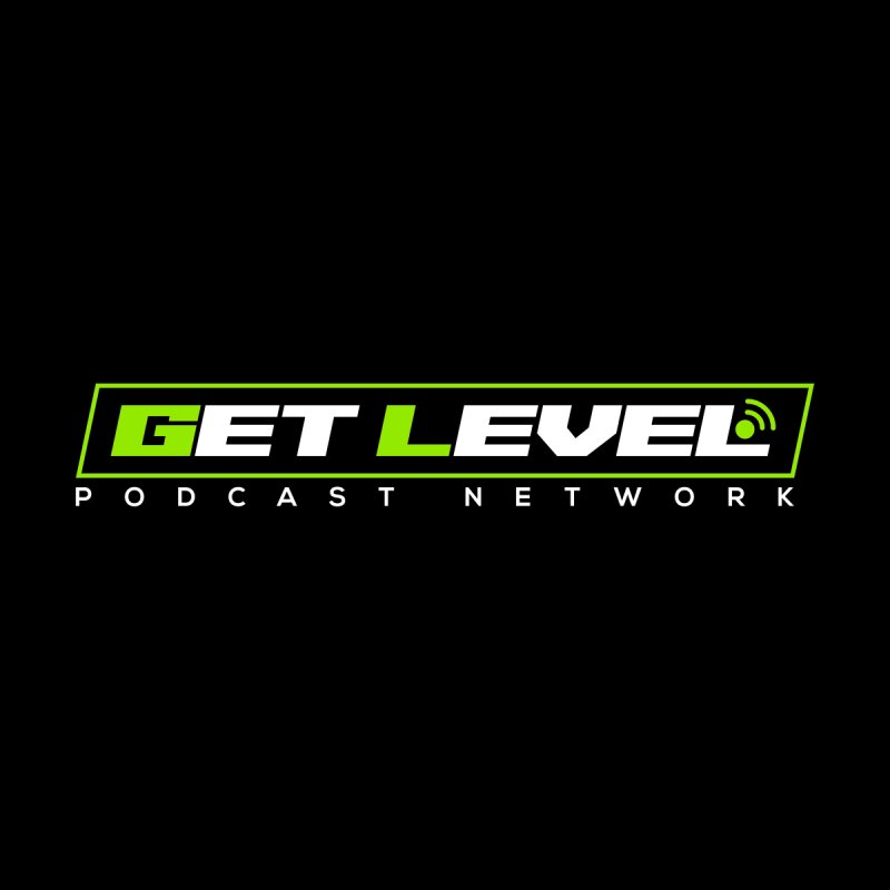 Get Level Podcast Network - White Logo Men's T-Shirt by Get Level Podcast Network