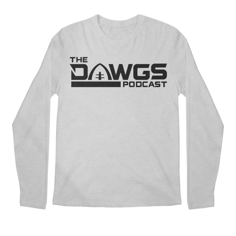 The Dawgs Podcast - Black Logo Men's Longsleeve T-Shirt by Get Level Podcast Network