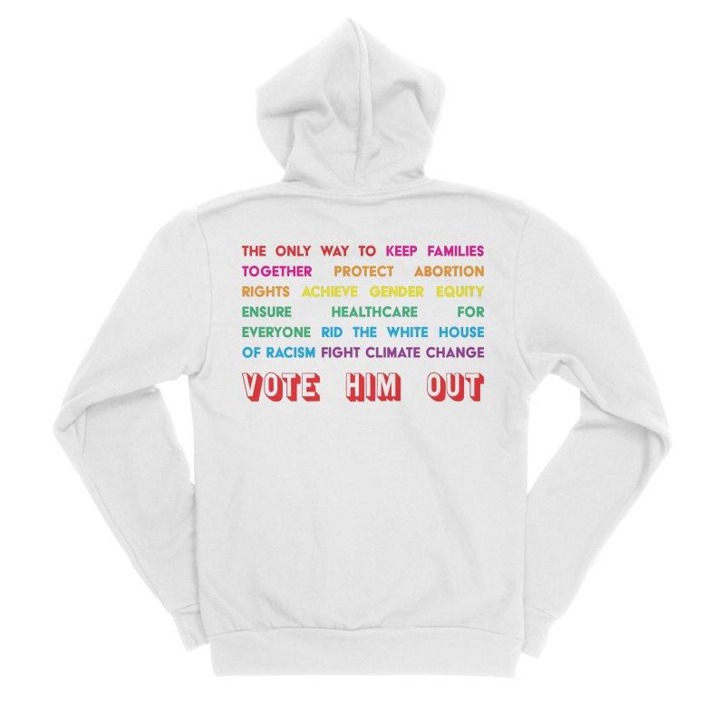 The Only Way Men's Sponge Fleece Zip-Up Hoody by Get Organized BK's Artist Shop