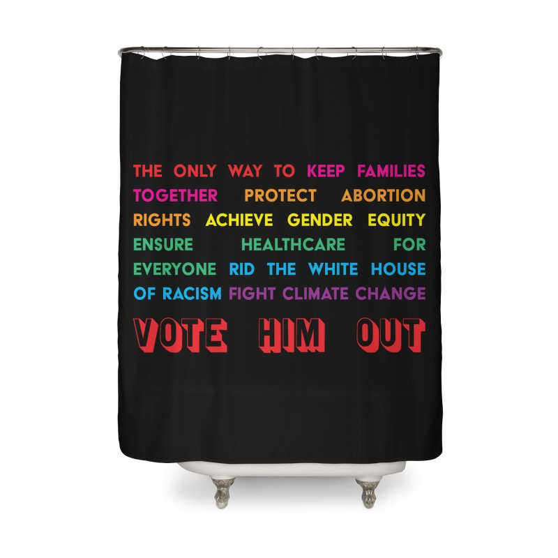 The Only Way Home Shower Curtain by Get Organized BK's Artist Shop