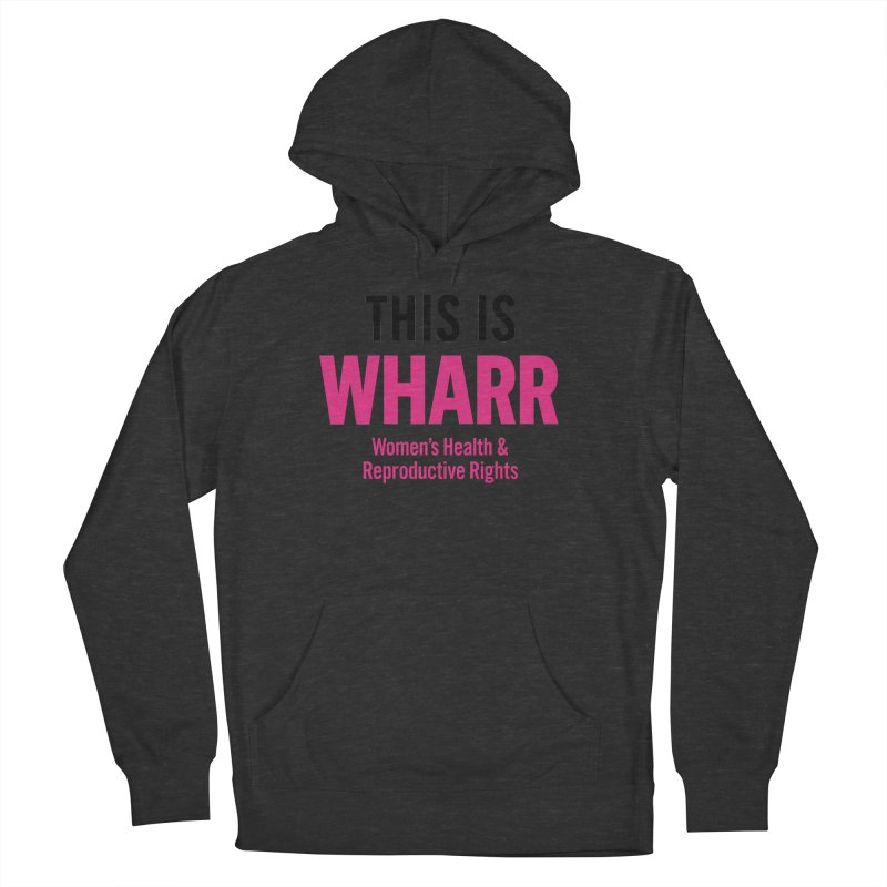 This is WHARR Declaration White Women's French Terry Pullover Hoody by Get Organized BK's Artist Shop