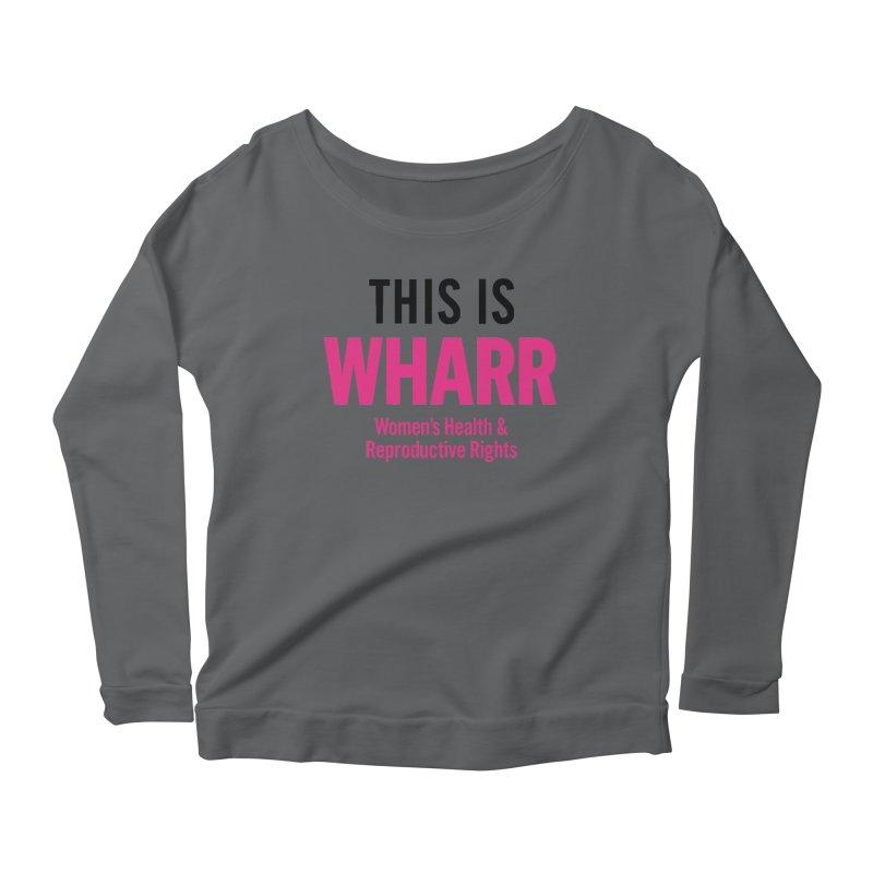 This is WHARR Declaration White Women's Scoop Neck Longsleeve T-Shirt by Get Organized BK's Artist Shop