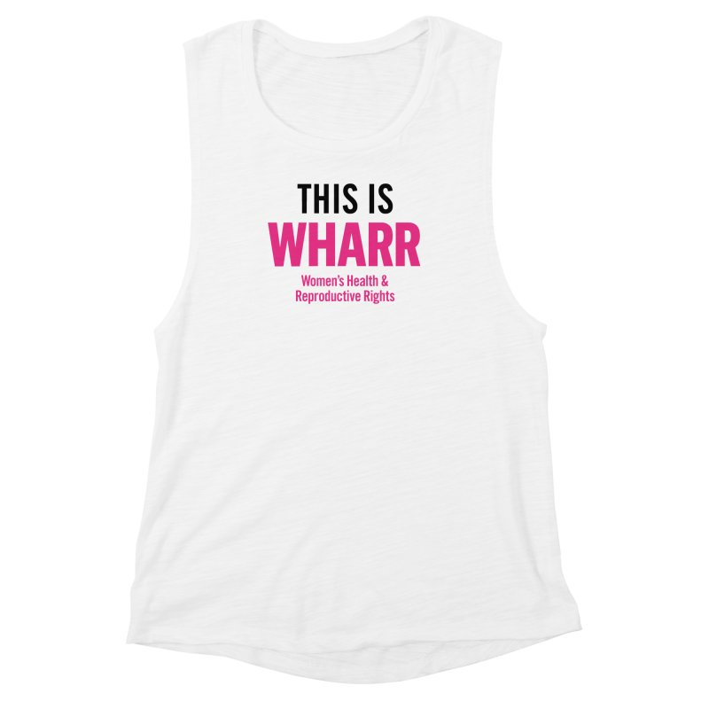 This is WHARR Declaration White Women's Muscle Tank by Get Organized BK's Artist Shop