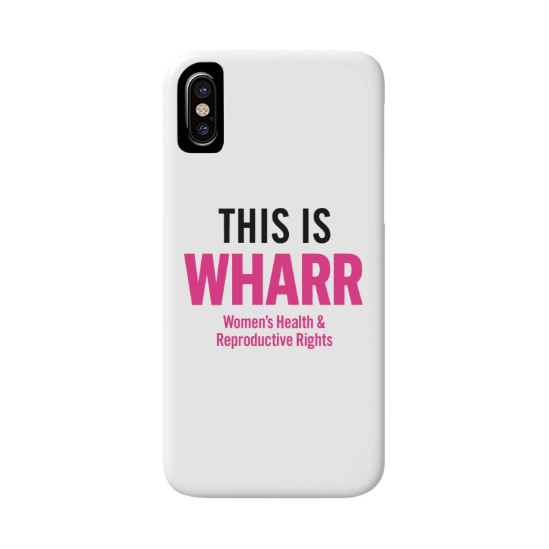 This is WHARR Declaration White Accessories Phone Case by getorganizedBK's Artist Shop