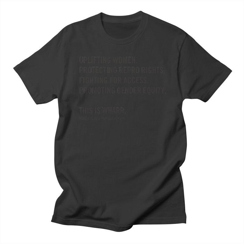 WHARR Mission Men's Regular T-Shirt by Get Organized BK's Artist Shop
