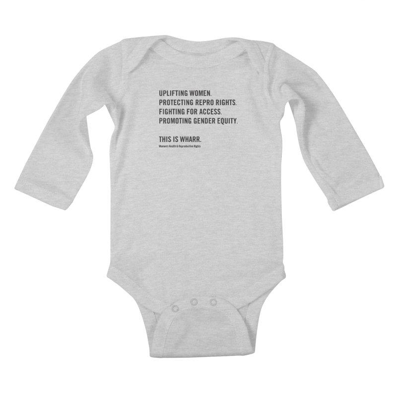 WHARR Mission Kids Baby Longsleeve Bodysuit by Get Organized BK's Artist Shop